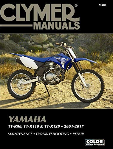 i5motorcycle 2004-2017 Yamaha TTR50 TTR110 TTR125 TTR125E TTR125L TTR 50 110 125 125L 125E Clymer Repair Manual