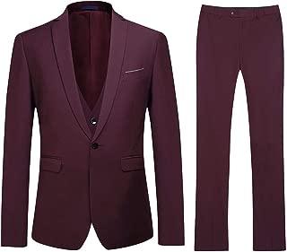 Trajes de Hombre Traje de Boda Slim Fit de 3 Piezas Elegante Blazer Chaleco y Pantalones