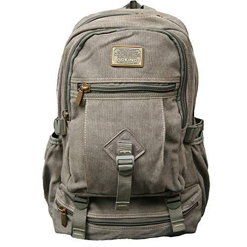 AOKING Rucksack Reisen Rucksack Männer Herren and Damen Schulrucksack Taschen Backpack grün