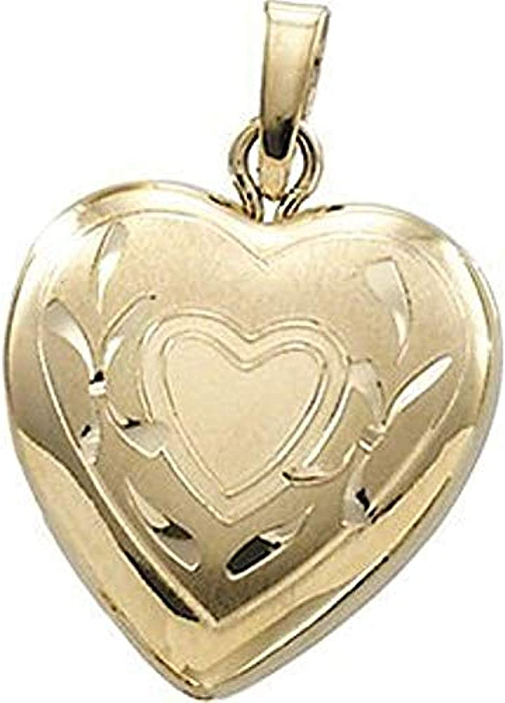Cheap sale PicturesOnGold.com Solid 14K Small Yellow Locket Gold Heart 67% OFF of fixed price - 1