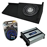 Compatible with 2007-2013 Chevy Silverado Extended Cab Truck Harmony Bundle F124 Single 12 Sub Box & HA-A400.1