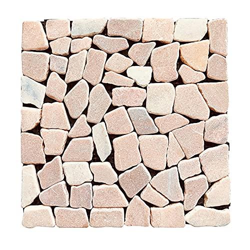 Patio Tiles, Yuhua Stone DIY Interlocking Deck Tile, Marble Waterproof Outdoor Flooring 12' X 12', for Patio Garden Deck Poolside Indoor Outdoor ( Color : F )