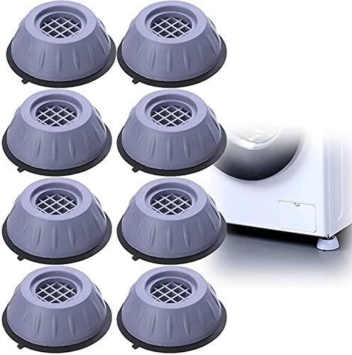 Soporte para lavadora con cancelación de ruido y golpes, 4/8 piezas, estabilizador para lavadora, pies con ventosa, accesorios para lavadora y secadora estabilizador antideslizante para (8PCS)