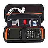 BOVKE Graphing Calculator Carrying Case for Texas Instruments TI-Nspire CX CAS/CX II CAS Color Graphing Calculator and More - Includes Mesh Pocket for USB Cables and Other Accessories, Black