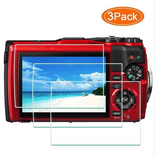 TG-6 Displayschutzfolie Schutzfolie für Olympus TG-6 Kamera,ULBTER 9H Härte LCD Gehärtetes Glas Kratzfest Anti-Fingerabdruck Anti-Staub Blasenfrei-[3 Stück]