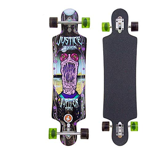 Find Discount ShurndGao Skate Board Longboards Complete Standard Skateboard Road Brush Street Scoote...