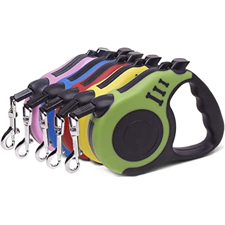 Pause Pettime 16ft Heavy Duty Durable Retractable Dog Leash with Anti-Slip Handle Lock Nylon Pet Walking Automatic Leash for Small//Medium//Large Dog or Cat up to 110lbs.One-Handed Brake