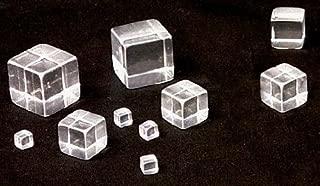 Solid Tumbled Acrylic Cube / Plexiglass Block - Transparent / Clear - 1