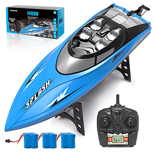 Kidfavor H108 RC Boat-20+ Mph High Speed Remote Control Racing Boat for Adults and Kids & Pools and Lakes, 2.4 Ghz Fast Electric RC Water Boat Toy for Boys& Girls (3 Batteries)