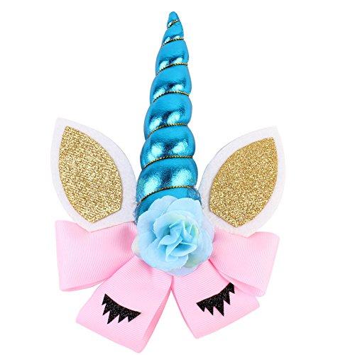 iKulilky Enfant Bandeau Coiffe de Licorne Serre-tête Halloween Cosplay Costume Headwear Bandeau Bande De Cheveux Accessoires Cheveux Hoop