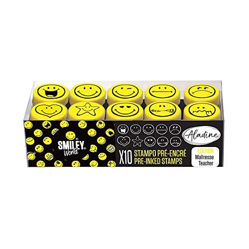 Aladine 03626 Stampo Easy Stempelset, schwarz, gelb
