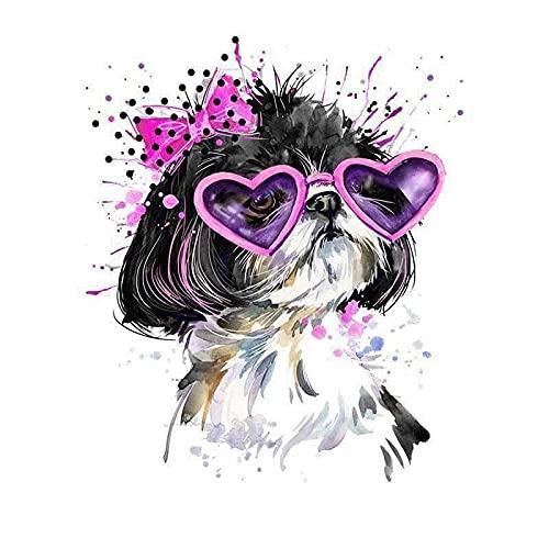Parches para Ropa Moda Bonita Dibujos Animados Perro Traslado Caliente Pintura Caliente...