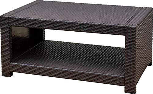 SEMI-IK ラタン調 ガーデンテーブル ガーデンソファー用テーブル 屋外 プラスチック IK-TAN-3T