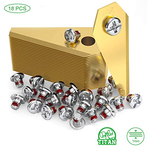 O'woda 18 Stück Ersatzmesser für Bosch Indego,Titansbeschichtung Edelstahl Rasenmäher Klingen Messer 50x18x1mm,für Bosch Indego (800,1000,1200,350,400,450,Connect) - Gold