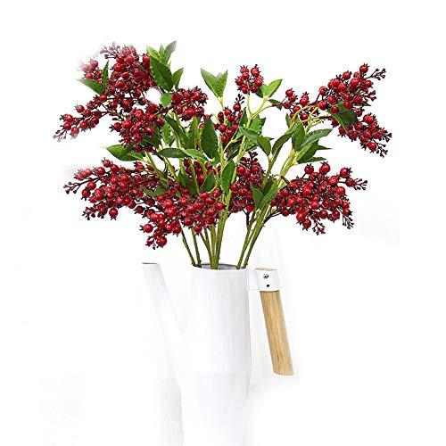 Kunstbloemen, rode bonen, voor buiten Balkon Oogst Fruit Kerst Decoratie Bloempotten Bruiloft Tuin Decoratie (3) Bevat geen vazen A