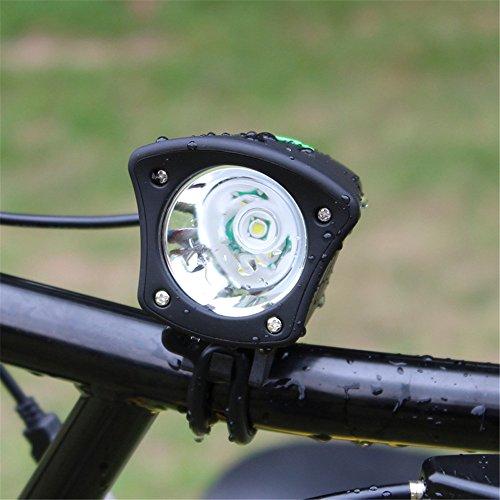 Amadoierly Vélo Lumière USB Interface T6 Dengzhu Montagne Vélo Phares Queue Lumières LED Lumières D'équitation, Vélo Lumière + Tablier