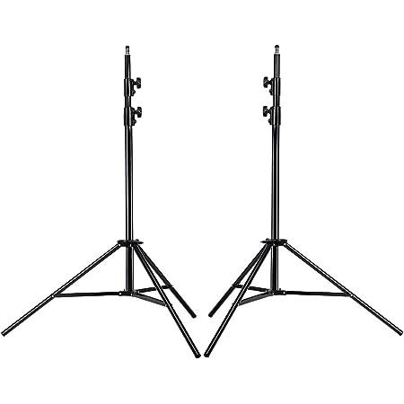 Neewer® Profesional Soporte Tripode de luz para fotografía en estudio de 9 pies / 260cm de alto y de aleación de aluminio para vídeo, retrato y fotografía de iluminación, reflectores, softboxes, parasoles, fondos (2)