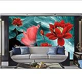 Zybnb Foto Mural De Pared Color Tinta Loto Papel De Pared Con Relieve Fondo De Tv Habitación Cocina Murales De Pared 3D Sala De Estar