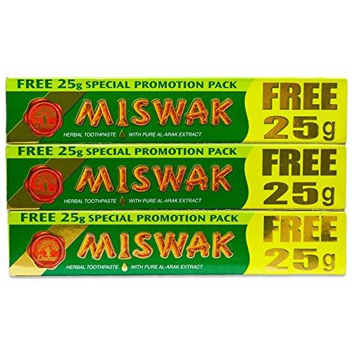 Dabur Zahnpaste Miswak 3er Pack 3 x 50g+25g free