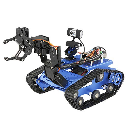 ZZKK WiFi Smart knutselen Crawler RC robottank met manipulator 480P camera PC Tool Controle telefoon elektrisch laadapparaat RC tank
