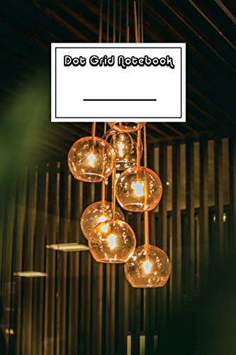 Dot Grid Notebook: Retro Vintage Lights Notebook | Beautiful 100-Page Dotted Bullet Work Book to Write in | Stylish 6 X 9 Dot Journal (Cool Notebooks) [Idioma Inglés]