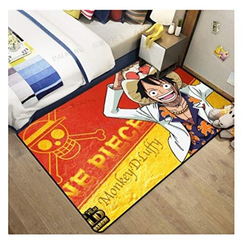 maishi Alfombras Sala De Estar Área De La Habitación De Los Niños Alfombra del Piso De Juego Rectángulo Dormitorio Baño Cocina Pasillo Dibujos Animados Anime Luffy Decoración del Hogar Lindo