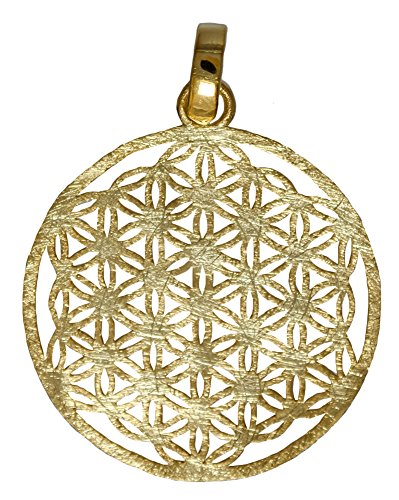 I de Be dorados de colgante flor de la Vida, Plata 925, longitud: 4cm, en estuche de regalo, 20bdl40sg