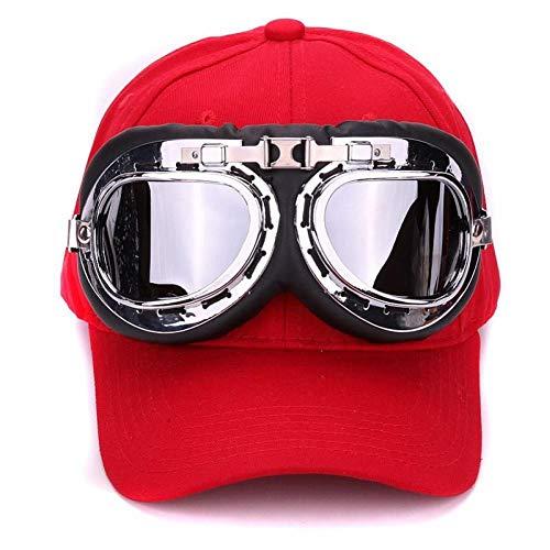DGFB Fancy Katoen 6 Panelen Skibril Baseball Cap Met Beleefde Bril Sportpetten Decoratie Nieuwigheid Halley Hoed