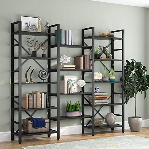 Xerhnan Book Shelf Book Shelves 30 inch Bookcase Folding Book Shelves Bookshelf (Blue)