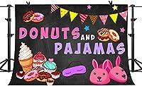 写真のHDドーナツとパジャマの背景10x7FTカラフルなドーナツパジャマの女の子の写真の背景壁紙部屋壁画小道具BJLSPH328