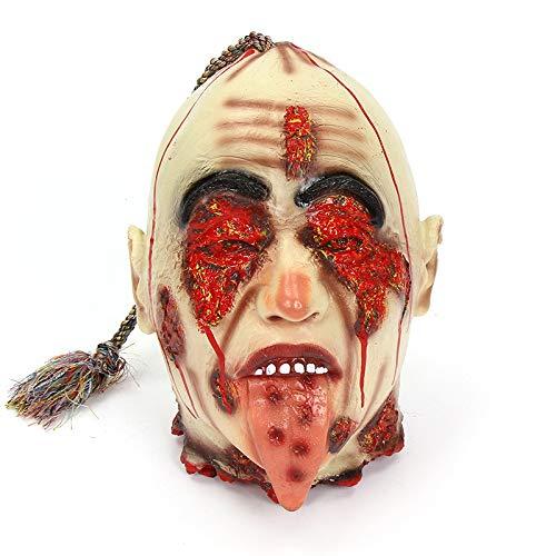 longhua Accesorios de la casa encantada Rota de Halloween Tricky Scary Ghost Room Escape Ghost KTV Arreglo de Escena Decoracin Cicatrices Decapitacin