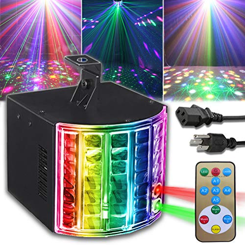 party lights Party Lights DJ Disco Lights SUPERNAL LED Stage Lights Sound Activated Strobe Effect Projector Lights with Remote Control for Wedding Birthday Christmas Karaoke Dance Concert