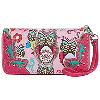Colorful Owl Spring Western Style Fashion Clutch Purse Women Wristlets Wallet