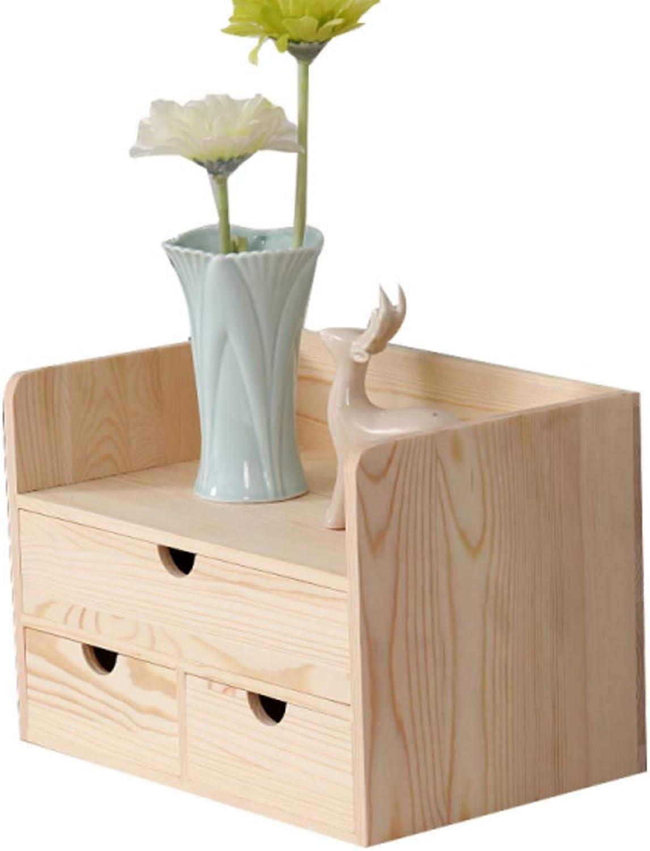 Desk Organiser Bookshelf, Mini Storage Cabinet, Multifunctional Desktop Organizer Retro Design for Bedroom Home Room Office-f 30x19x21cm(12x7x8inch)