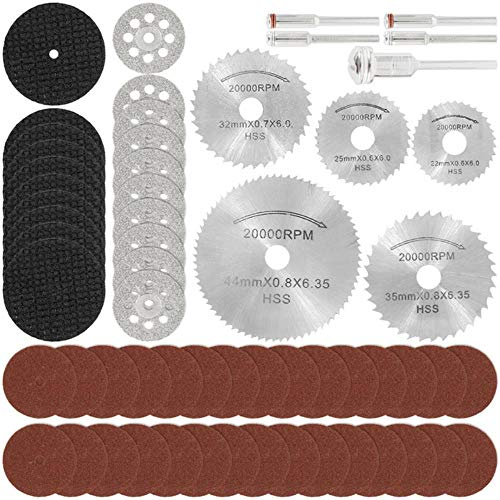 60 piezas de discos de corte de diamante, lijado, rueda de molienda,...