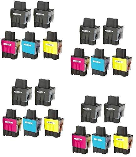Prestige Cartridge LC900 / LC950 Pack de 20 cartuchos de tinta para Brother MFC/DCP/FAX Serie, negro/cian/magenta/amarillo