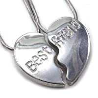 Best Friends BFFハートネックレス2つペンダントTeen Girls Lady刻印文字ファッションジュエリー