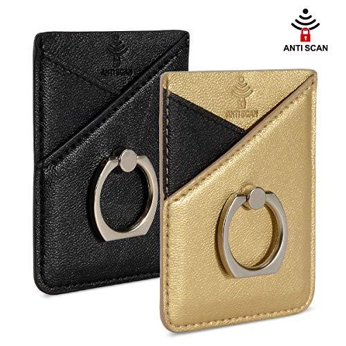Doormoon リングカード収納ポケット SUICA PASMO パスケース スキミング防止 貼り付け 背面ポケット スタン...