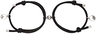 Pingyongchang 2PCS Magnetic Mutual Attraction Couple Bracelet Adjustable Handmade Vows of Eternal Braided Rope Jewelry Gif...