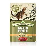 James Wellbeloved Adult Turkey Pouches Cat Food, Chicken, 1.08 kg