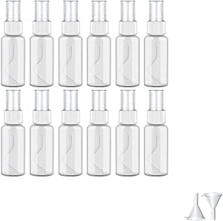 Qosea スプレーボトル 携帯 アルコール対応 30ML 12個 霧吹き 極細ミスト 空ボトル スプレー容器 小分けボトル 詰替ボトル除菌 消毒用 透明 軽量 化粧品容器