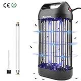 BACKTURE Lampe Anti Moustique, 14W UV LED Tue Mouches Efficace 30m² Piege Insectes Electrique Interieur, Destructeur d' Insectes Electrique avec Tube UV de Rechange et Brosse de Nettoyage