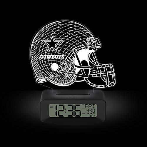 NFL Team Logo LED Illusion Alarm Clock by Game Time - Dallas Cowboys