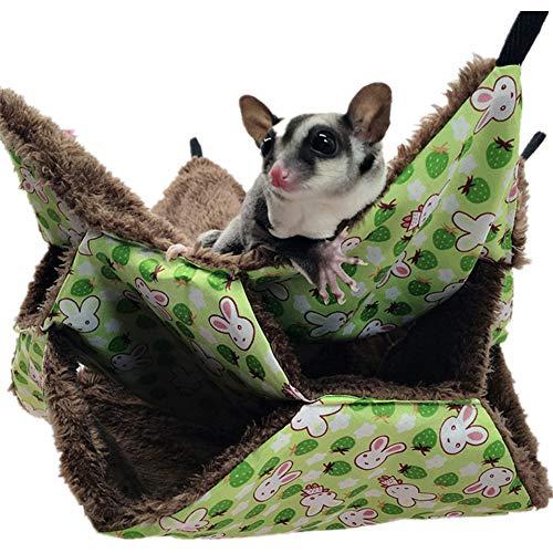 AOOCEEH Cama Conejo Enano Hamster Casa Ropa para Cobayas Hamster Accesorios Cama...