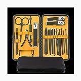 Set manicura Cuidado Kit de Herramientas de pedicura manicura Nail Clipper Set de 6 uñas Tijeras Set Viaje Acero Inoxidable de uñas con una Caja portátil Manicura Pedicura Set (Color : Yellow)