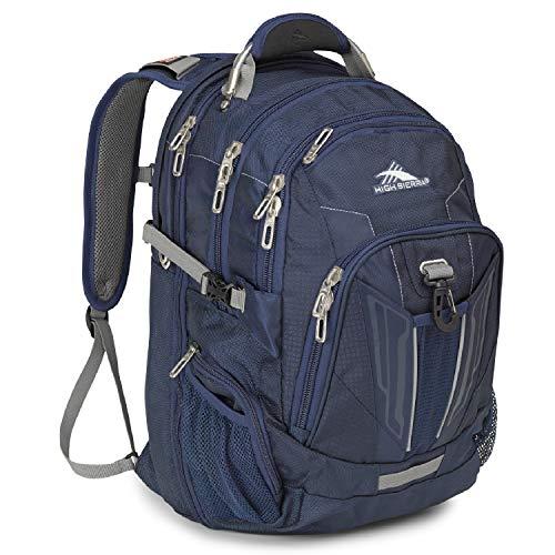 High Sierra XBT - TSA Laptop Backpack, One Size, True Navy/Charcoal