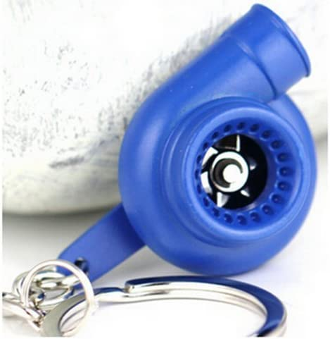 Muchkey Creative Spinning Turbo Schlüsselanhänger Fashion Auto Teil Modell Auto Fan S Favorite Turbine Turbolader Schlüsselanhänger Ring Schlüsselanhänger Gold Auto