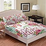 richhome Juego de ropa de cama con diseño de rosas y flores, para niñas, con dos fundas de cama, ropa de cama, ropa de cama, ropa de cama, 2 piezas