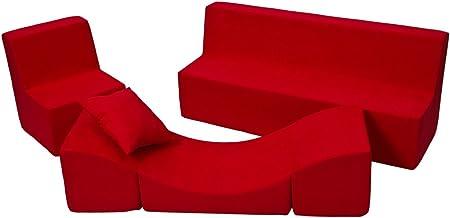 Velinda Set Completo mobili Bambino:2xpoltroncina+divanetto+Poltrona Relax Colore: Blu