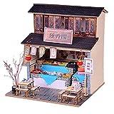 UR MAX BEAUTY DIY Maison Miniature avec LED Meubles MODÉLISME Blocs Jouets pour Enfants CASA De Boneca Chinese Folk Architecture,H